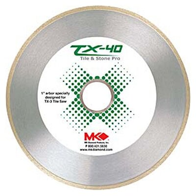 MK Diamond Wet Cutting Continuous Rim TX-40