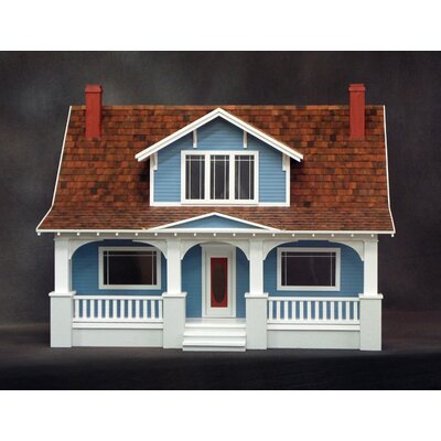 Classic Bungalow Dollhouse in Milled Plywood