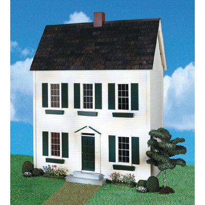 Real Good Toys Quickbuild Classic Colonial Dollhouse in White