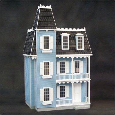 Finished Alison Dollhouse in Blue