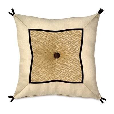 Bellezza Polyester Nicola Glow Mitered and Tufted Decorative Pillow