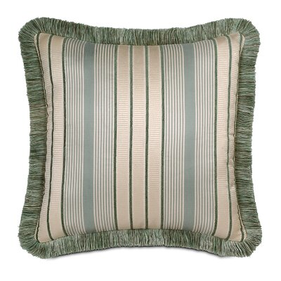 Eastern Accents Carlyle Polyester Luxembourgh Spa Decorative Pillow with Brush Fringe