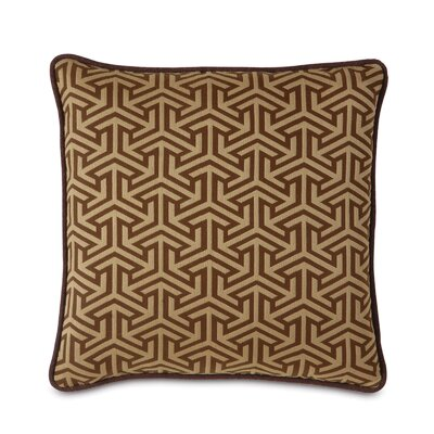 Mondrian Earth Polyester Decorative Pillow with Small Welt
