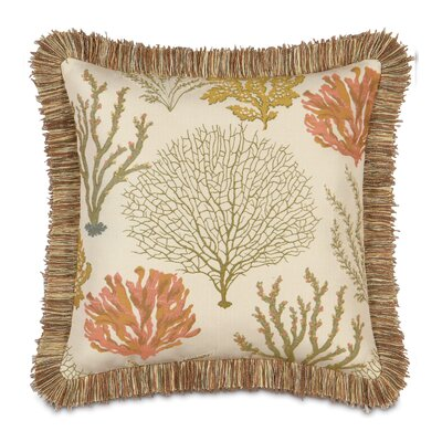 Caicos Polyester Decorative Pillow with Brush Fringe