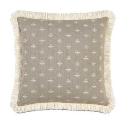 Daphne Polyester Decorative Pillow with Brush Fringe