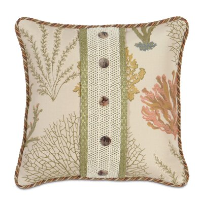 Caicos Polyester Decorative Pillow with Buttons