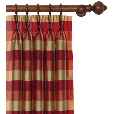 Eastern Accents Beckford Silk Plaid Three-Finger Curtain Panel