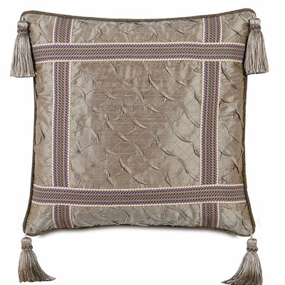 Mica Polyester Decorative Pillow with Welt and Tassels