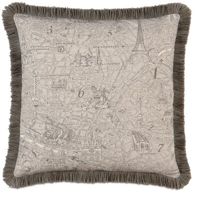 Daphne Polyester Trompe Decorative Pillow with Brush Fringe