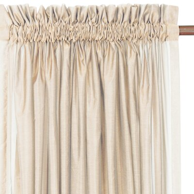 Eastern Accents Ambiance Trevira Ruffled Rod Pocket Sheer Curtain Single Panel