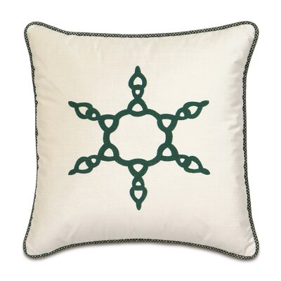 Eastern Accents Deck The Halls Evergreen Snowflake Decorative Pillow