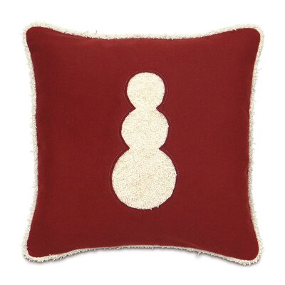 Eastern Accents Candy Cane Fluffy Snowman Decorative Pillow