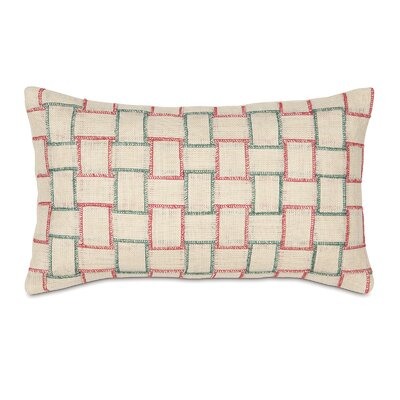 Joyeaux Noel Holiday Woven Decorative Pillow