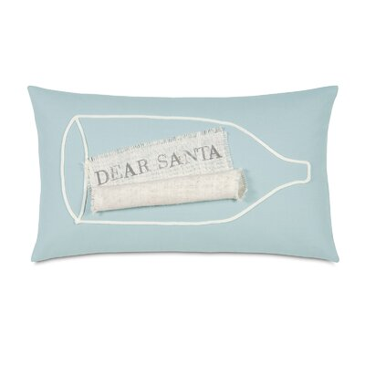 Coastal Tidings Wish List in a Bottle Decorative Pillow