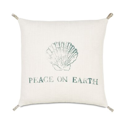 Coastal Tidings Festive Shell Decorative Pillow