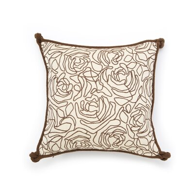 Eastern Accents Tracery Polyester Decorative Pillow with Small Welt