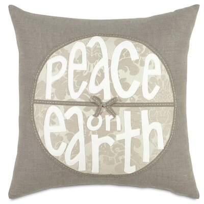 Eastern Accents Dreaming of a White Christmas Peace on Earth Pillow