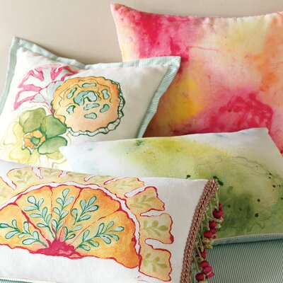 Eastern Accents Portia Hand-Painted Motif Polyester Decorative Pillow