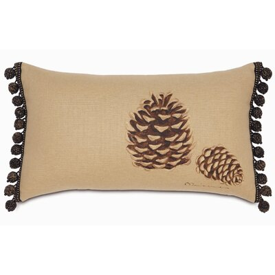 Reynolds Polyester Hand-Painted Pine Cones Decorative Pillow