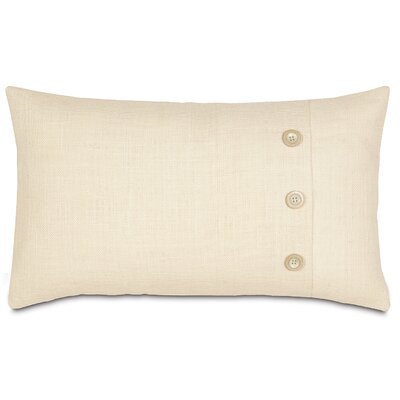 Rustique Burlap Polyester Knife Edge Decorative Pillow