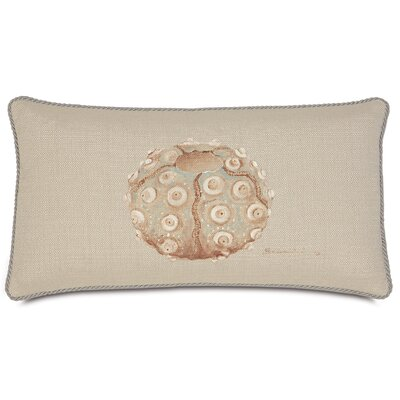 Avila Polyester Hand-Painted Sea Urchin Decorative Pillow