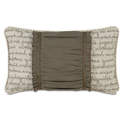 Daphne Polyester Breeze Ruched Insert Decorative Pillow
