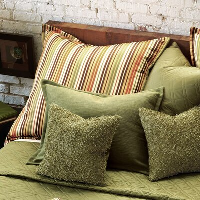 Eastern Accents Melange Polyester Decorative Pillow with Mini Flange