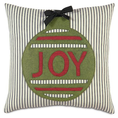 Eastern Accents Fa La La Ornament Joy Pillow