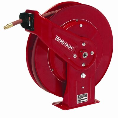 "Reelcraft 0.38"" x 70', 300 psi, Heavy Industrial Air / Water Reel with Hose"