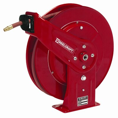 "Reelcraft 0.38""x 50', 4000 psi, Heavy Industrial Grease Reel with Hose"
