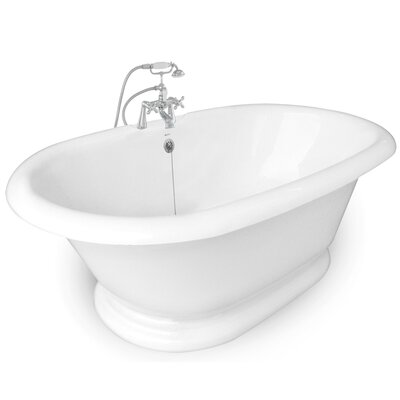 "American Bath Factory Heritage 72"" x 42"" AcraStone Double Ended Bathtub"