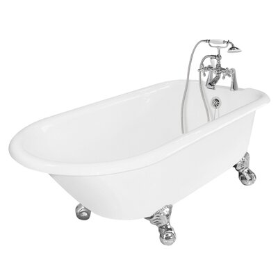 "American Bath Factory Windsor 61"" x 31"" Cast Iron Bathtub"