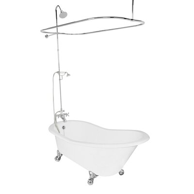 "American Bath Factory Wintess 62"" x 31"" Cast Iron Bathtub"