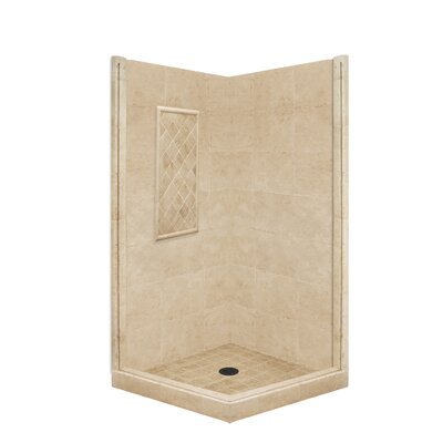 American Bath Factory Basic Pivot Door Shower Enclosure