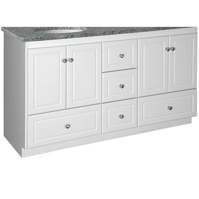 "Strasser Woodenworks Simplicity 60"" Double Bowl Bathroom Vanity Base"