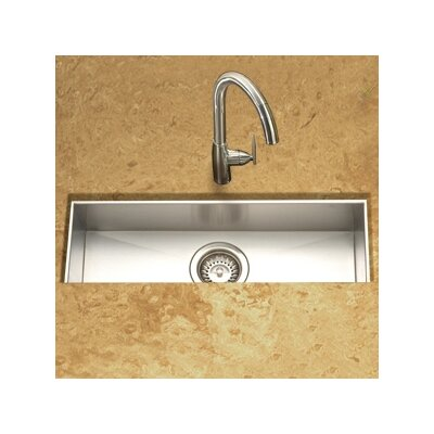 Houzer Contempo Zero Radius Undermount Trough Bar/Prep Kitchen Sink in Brushed Satin