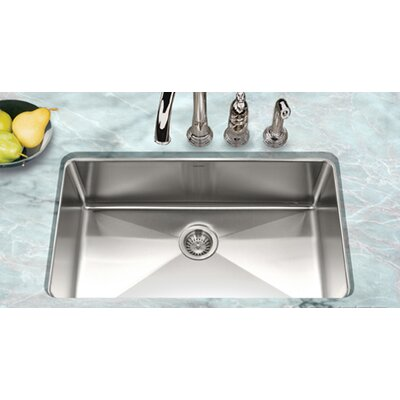 "Houzer Nouvelle 31.13"" x 18"" Undermount Gourmet Large Single Bowl Kitchen Sink"