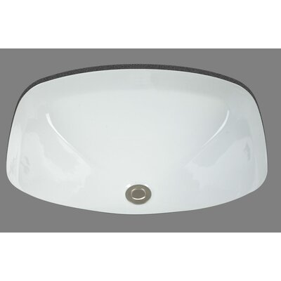 Jessica Undermount Porcelain Bathroom Sink - P1619.WH