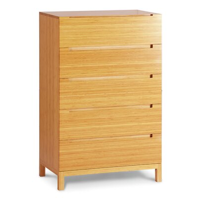 Orchid 5 Drawer Bamboo Chest