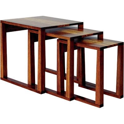 Greenington Magnolia 3 Piece Bamboo Nesting Tables