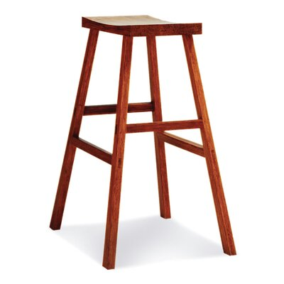 "Greenington 30"" Bar Height Holly Bamboo Stool in Caramelized Finish"