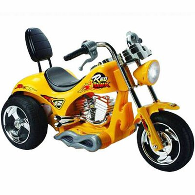 Big Toys Red Hawk Motorcycle 12V Bike