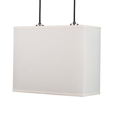 Rex Pendant Lamp with Canopy in Brushed Nickel