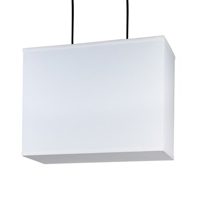 Lights Up! Rex Largel Square Pendant Lamp with Canopy in Brushed Nickel
