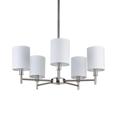 Lights Up! Walker 5 Light Chandelier with Clip Shades
