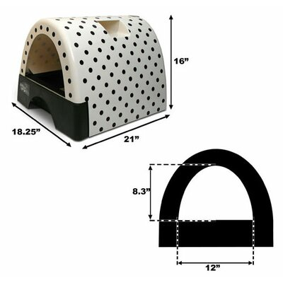 Kittyagogo Designer Cat Litter Box with Black Shiny Cover