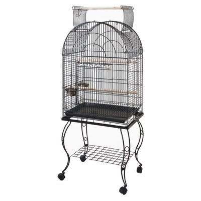 Bono Fido 61cm Dome Open Top Parrot Cage with Stand