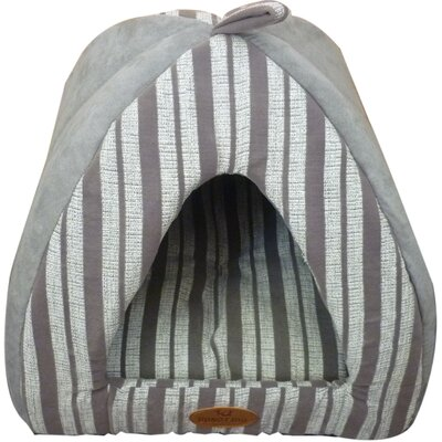 Bono Fido Pyramid Medium Bed Striped Suede