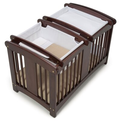 Cariboo New Zealand Classic Cot Top Bassinet in Mahogany Timber / White Fabric