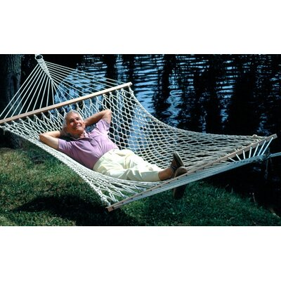 Algoma Net Company Deluxe Single Cotton Rope Hammock with Stand